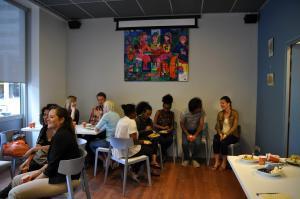 Café Welkom op 28 juli. Foto: Nafila Maani
